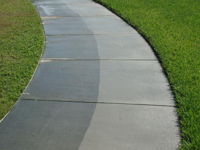 What makes pressure washing so effective pressure for What to clean concrete with