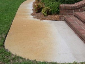 Concrete Cleaning Before